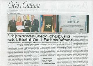 Primer cirujano plástico español en recibir la Estrella de Oro a la Excelencia Profesional | Dr. Rodríguez-Camps