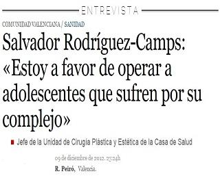 El doctor Salvador Rodríguez-Camps, explica en una entrevista al diario La Razón, porque está a favor de operar adolescentes.